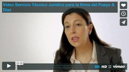 Vídeo Servicio Técnico Jurídico para la firma del Pueyo & Díaz