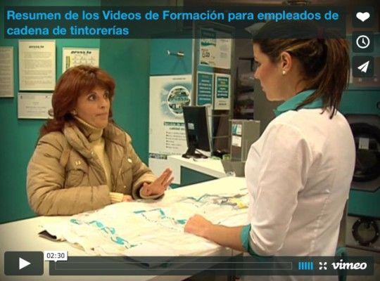 Resumen de los Videos de Formación para empleados de cadena de tintorerías