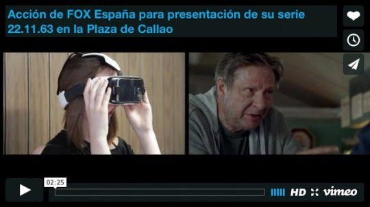 Acción de FOX España para presentación de su serie 22.11.63 en la Plaza de Callao
