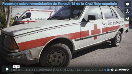 Reportaje sobre remodelación de Renault 18 de la Cruz Roja española