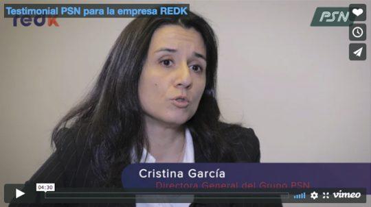 Testimonial PSN para la empresa REDK