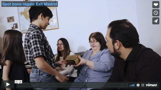 Spot bono regalo Exit Madrid
