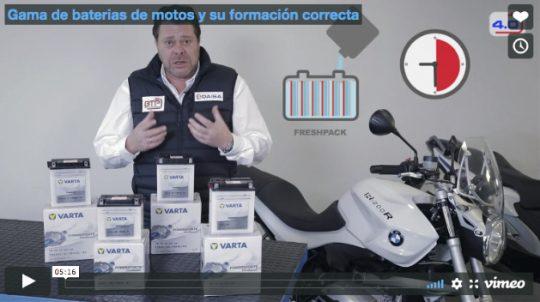 Gama de baterias de motos y su formación correcta