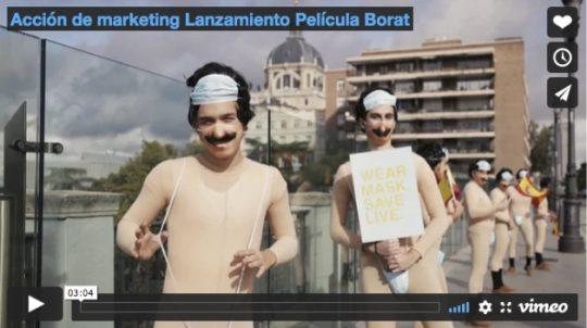 Acción de marketing Lanzamiento Película Borat