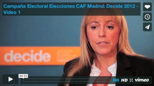 Campaña Electoral Elecciones CAF Madrid