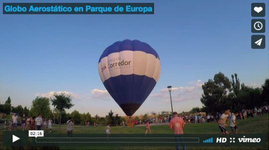 Globo Aerostático en Parque de Europa