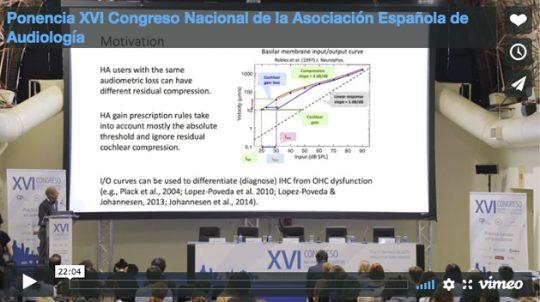 Ponencia XVI Congreso Nacional de la Asociación Española de Audiología