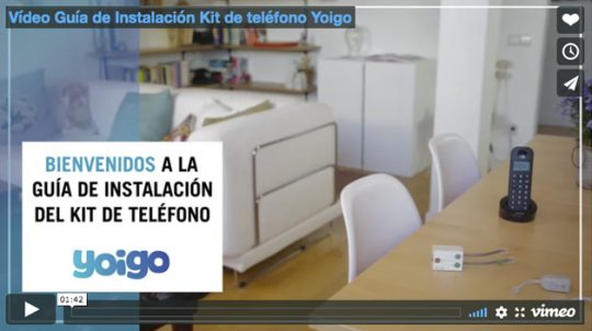 Vídeo Guía de Instalación Kit de teléfono Yoigo