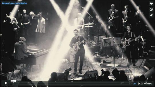 Grabación de Anaut en concierto